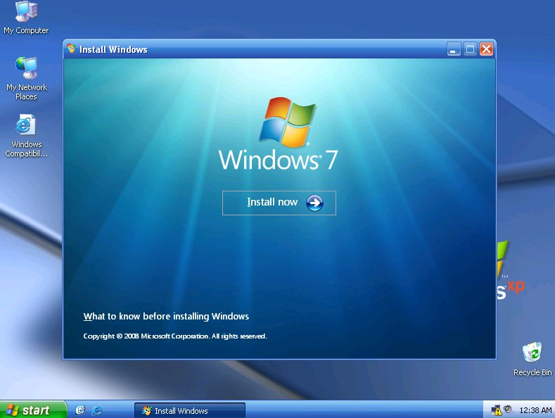 upgrade windows xp to windows 7 free