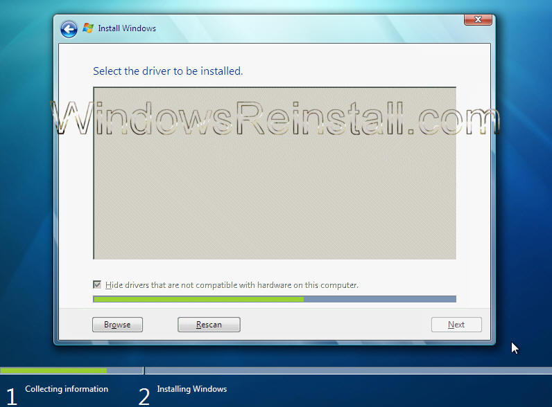 Load Driver Options Menu: A list of available drivers will appear ...