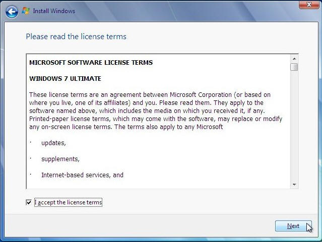 license for windows 7 ultimate